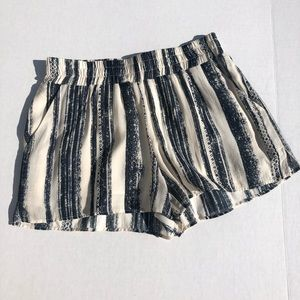 Lavender Brown Striped Pull On Shorts